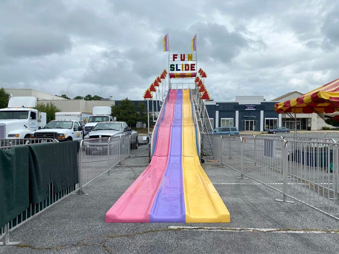 A carnival is set up to be held July 31 through Aug. 2 in front of the Staunton Mall.