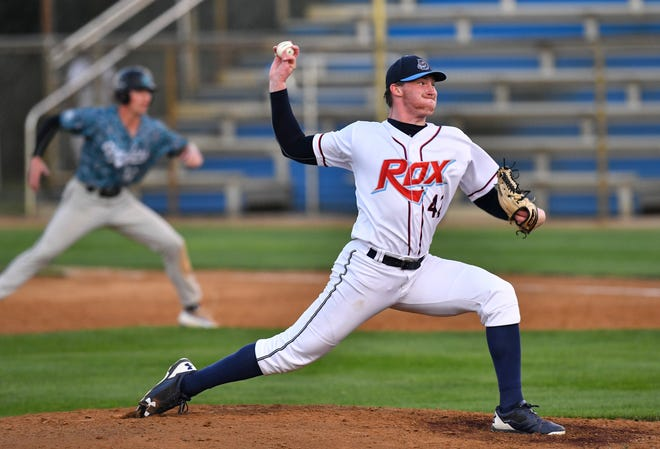 Kent State junior Luke Albright is pictured pitching for the St. Cloud Rox last summer in St. Cloud, Minn.