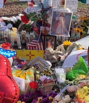 Part of the Walmart memorial dedicated to Angie Silva Englisbee.