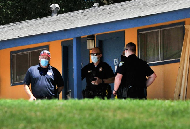 Wichita Falls police investigate a reported explosion Friday afternoon near the Scotland Park Motel.