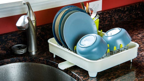 Don't let dishes pile up in the sink.