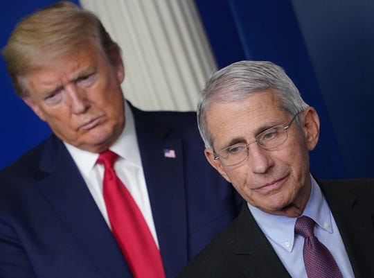 President Donald Trump and Anthony Fauci