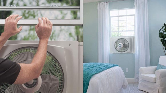 Bring fresh air in and push stale air out.