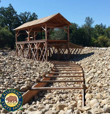 """<a href=""""http://www.parks.ca.gov/?page_id=484""""><strong>Marshall Gold Discovery State Historic Park</strong></a> &bull; Near Sacramento, California &bull; Site of discovery that sparked California's 1849 &quot;Gold Rush.&quot;"""