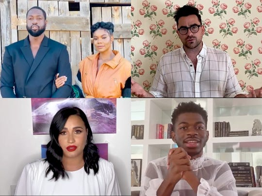 Dwyane Wade and Gabrielle Union, Dan Levy, Demi Lovato and Lil Nas X all made appearances on the virtual GLAAD Media Awards show.