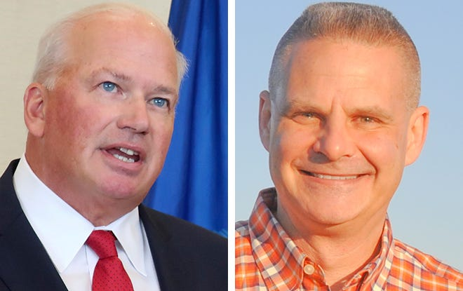 State Senate leader Scott Fitzgerald, left,and Cliff DeTemple, right, will compete in the Aug. 11 Republican primary for the 5th District congressional seat.