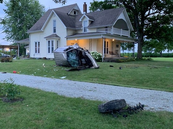 An Anderson man was seriously injured Friday evening when he was ejected from his van as it left a western Henry County road and rolled.