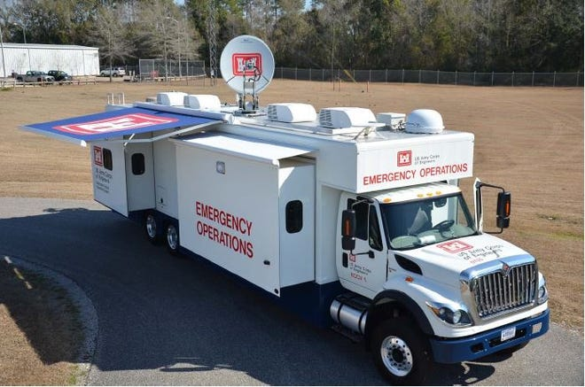 Emergency command and control vehicles like this one are housed at Indian Rock Dam in York County.