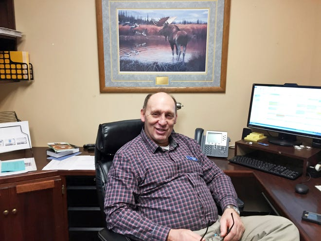 In this Jan. 16, 2017, file photo, then Rep.-elect Gary Knopp sits in his office at the Alaska Capitol in Juneau, Alaska. Knopp was killed in the mid-air collision of two planes near Soldotna on Friday, July 31, 2020. Alaska State Troopers would not confirm Knopp's death beyond saying the mid-air collision near the airport in Soldotna was a fatal crash.