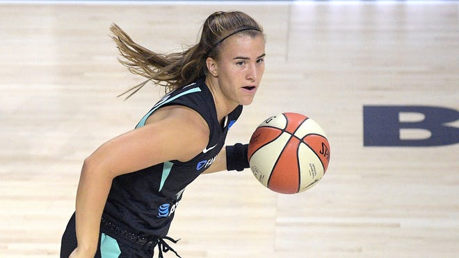 New York Liberty guard Sabrina Ionescu made her WNBA against the Seattle Storm on July 25.