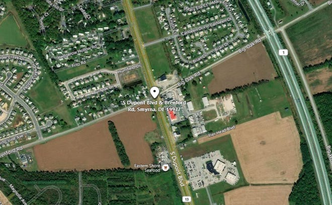 A Dover pedestrian was hit by a car while she was in southbound U.S. Route 13 south of Brenford Road near Smyrna early this morning, Aug. 2.