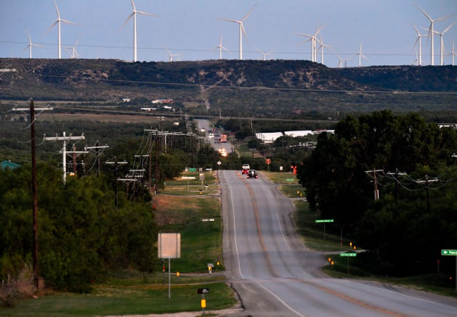 The view from Sweetwater looking south on Lamar Street, which turns into State Highway 70, heading toward Nine-Mile Hill.