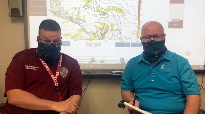 Matthew Wallace and Don Walker give an update from the Brevard Emergency Management office.