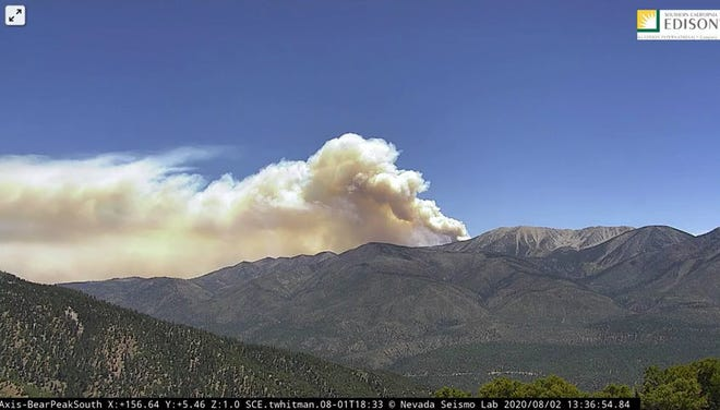 Santa Ana winds have Southern California Edison considering cutting power to 240,000 customers to reduce the risk of wildfires. Southern California Edison cameras cause the start of the Water Fire, pictured here, in August 2020.