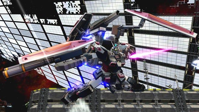 The Full Armor Gundam from Gundam Thunderbolt in Mobile Suit Gundam Extreme Vs. MaxiBoost ON.