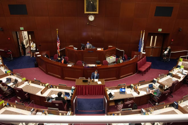 Nevada legislators reconvene Monday faced with the challenge of a state budget shredded by the COVID-19 pandemic's financial fallout.