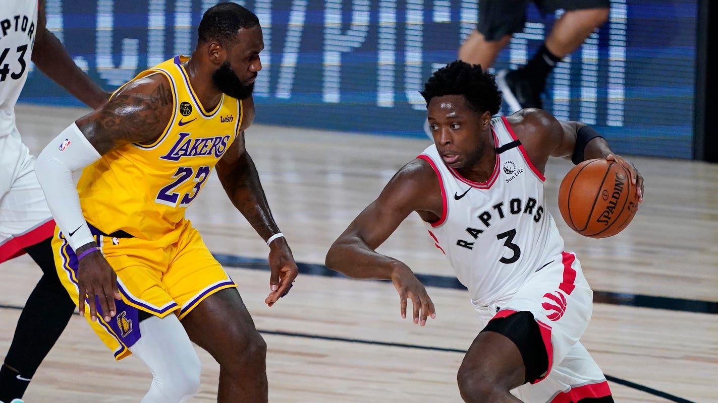 NBA bubble updates for Day 3: Raptors show they're still a top title contender vs. Lakers thumbnail
