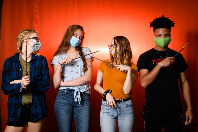 Teens in the Cape Fear Regional Theatre youth summer program are presenting a play called 'Puffs.' It will be staged at Dirtbag Ales. [Andrew Craft/The Fayetteville Observer]