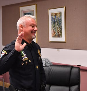 Satellite Beach Police Chief Jeff Pearson was sworn in as president of the Florida Police Chiefs Association Monday morning during a zoom meeting with police chiefs from around the state and Florida Attorney General Ashley Moody. The ceremony had limited live audience due to social distancing. Attorney General Moody swore in Chief Pearson.
