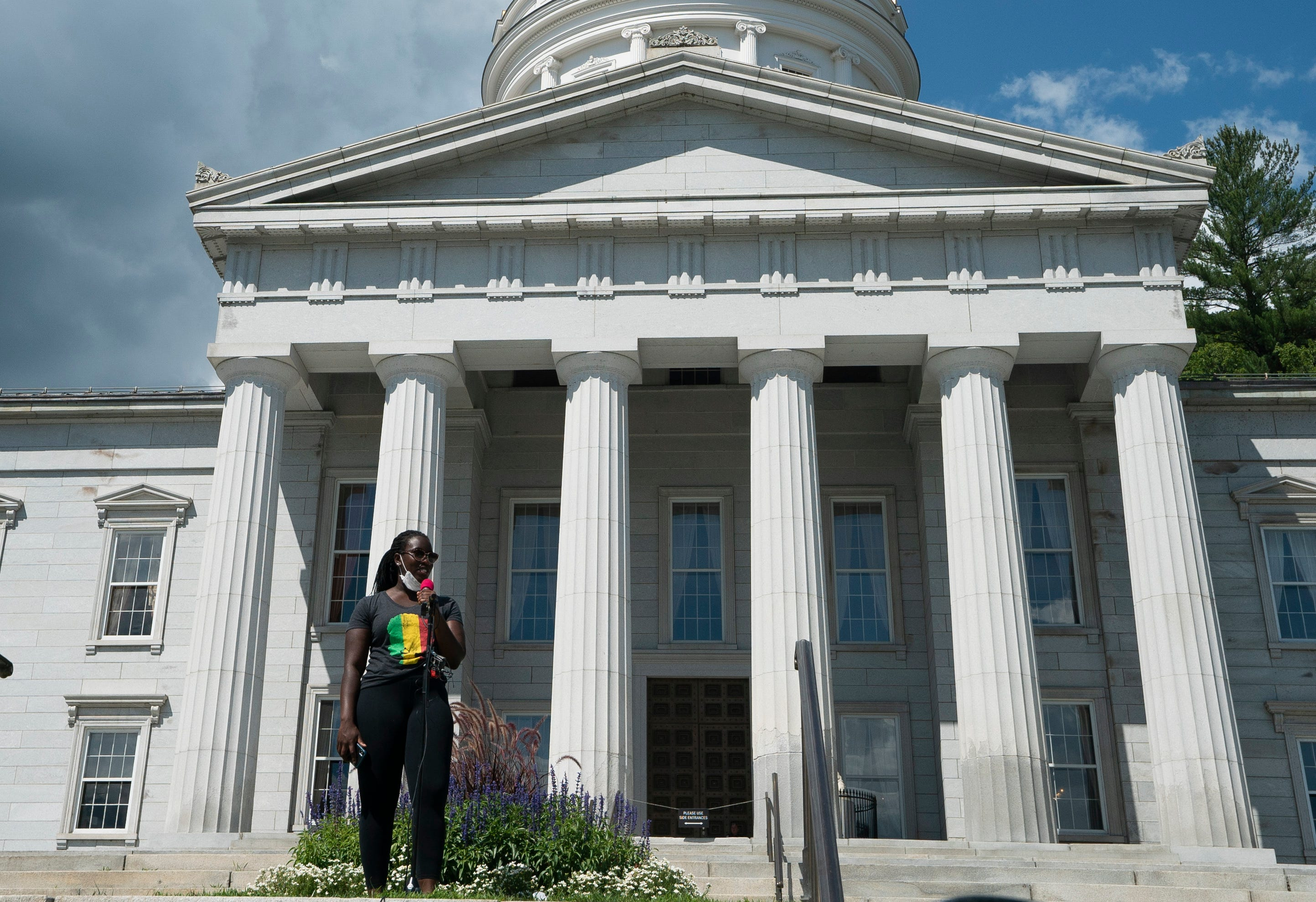 """Black Vermonters speak against racism at Montpelier rally: """"I, Too, Am America"""""""