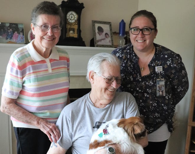 As PalliaCareTM social worker Ally Pittman watched Dave struggle with feelings of hopelessness and loneliness, she learned that he and his wife had been thinking about adopting a dog for a long time.