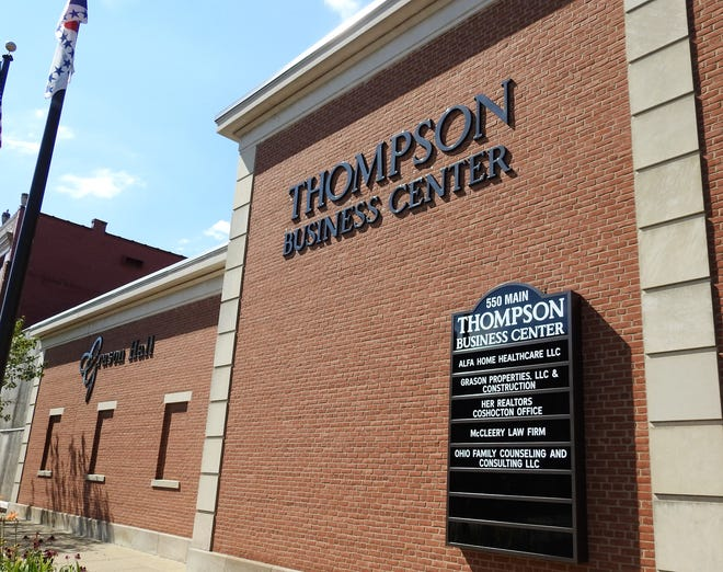 The Thompson Business Center recently had an open house and ribbon cutting for the five businesses located in the building. These are Alfa Home Healthcare, Grason Properties and Construction, HER Realtors, McCleery Law Firm and Ohio Family Counseling and Consulting. Grason Hall connected to the building is being remodeled as an event space.