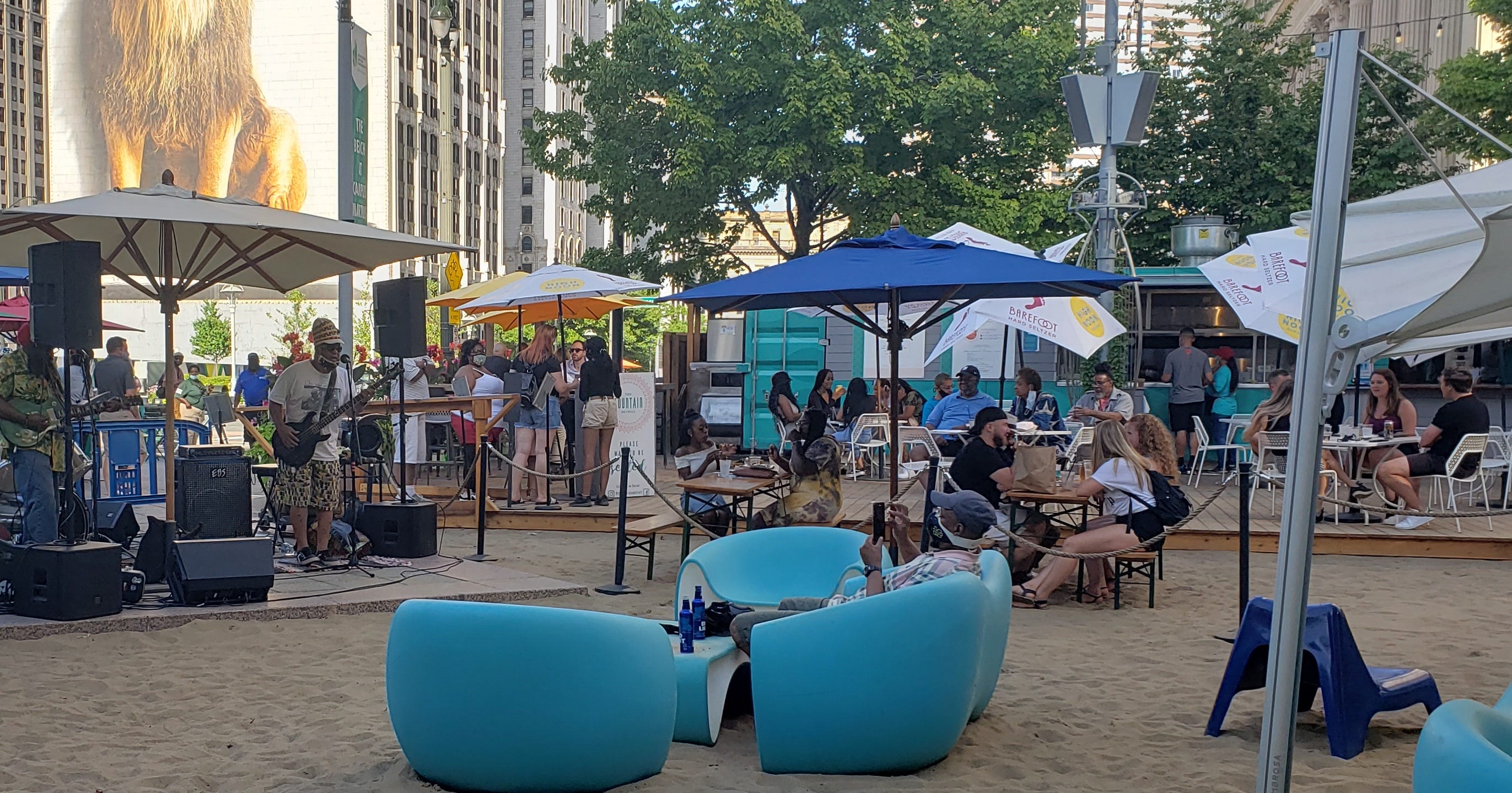 Scaled-down music events to run Fridays at Campus Martius in downtown Detroit