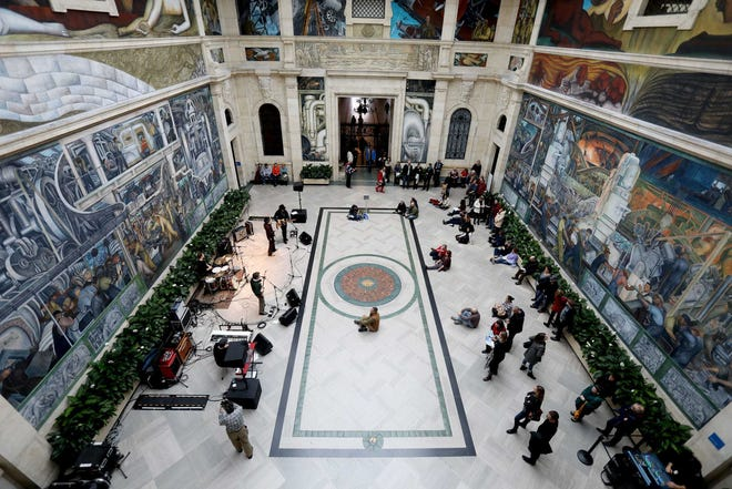 The Rivera Court at the Detroit Institute of Arts on Dec. 1, 2018.