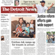 The front page of the Detroit News on Monday, August 3, 2020.