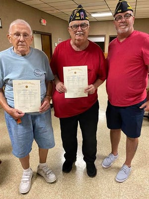 The Ft. Stephenson Post 608, Fremont American Legion honored two long time members.
