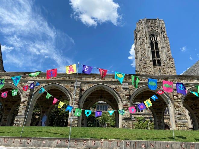 Prayer flags at Idlewild Presbyterian Church.