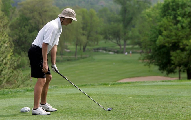 West Allis Hale's John Zilles gets ready to tee off during WIAA regional play in 2013 at Silver Spring Golf Club. The owner of the course and banquet center is proposing to turn the golf course into a 440-home subdivision with homes ranging from $400,000 to more than $600,000.