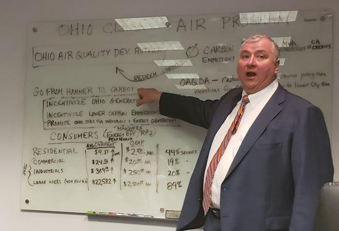 House Speaker Larry Householder, R-Glenford, describes elements of the new Ohio Clean Air Program in 2019.