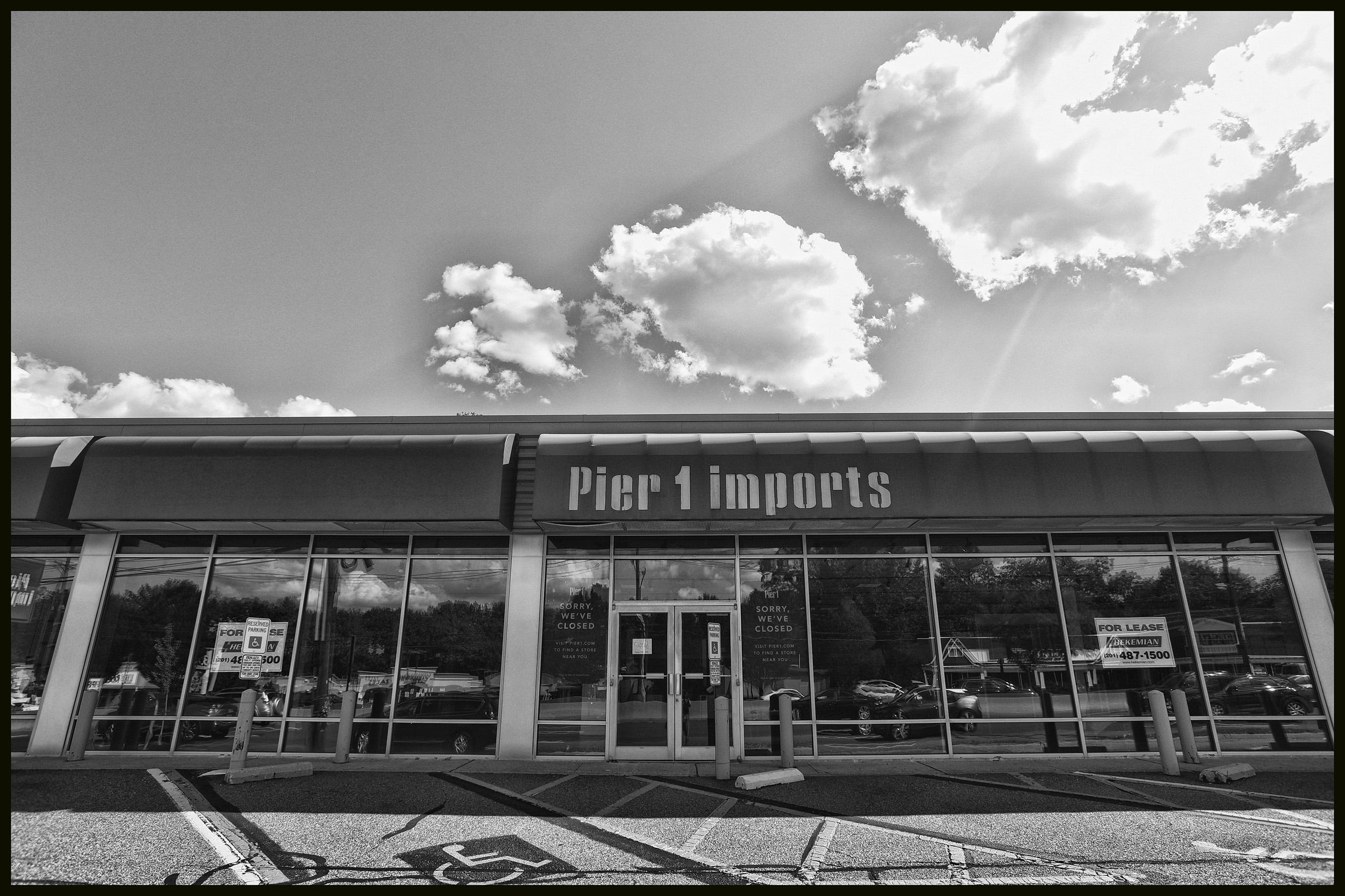 The store front of Pier One is seen along Rt. 4 in Paramus on 7/14/20.