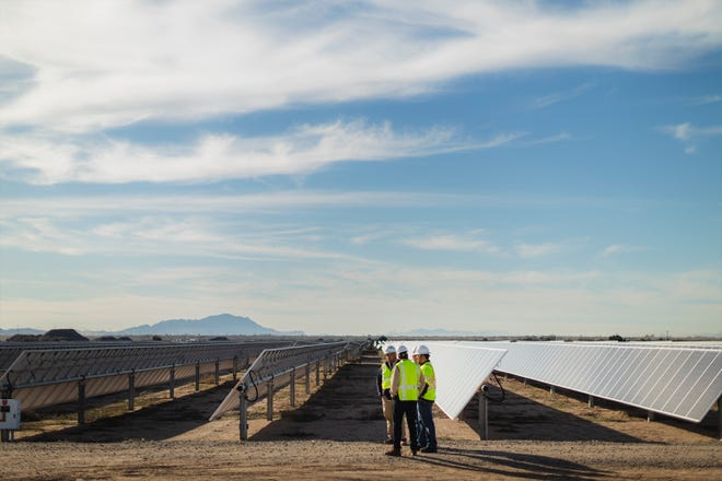 The Sandstone Solar project in Florence was developed by Utah-based sPower, which also is building the newest solar plant for SRP customers in Eloy.