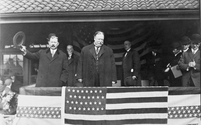 In 1908 William Howard Taft spoke on a platform across the street from what is today The Italian Market at 923 North E Street.