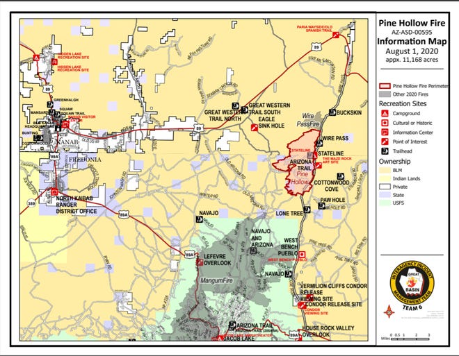 Pine Hollow Fire Information Map