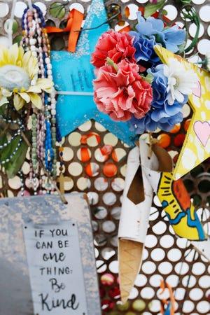 Walmart memorial at Ponder Park Sunday, Aug. 2, in El Paso.