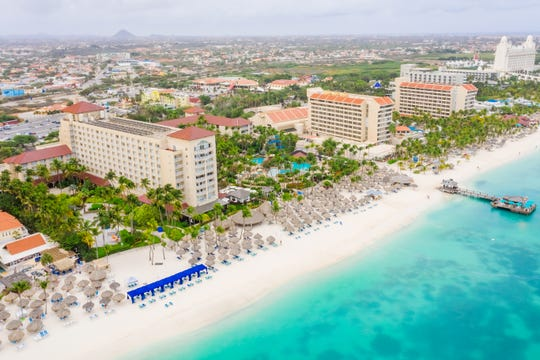 Hyatt Regency Aruba Resort Spa and Casino is a sprawling resort on the island's lively Palm Beach.