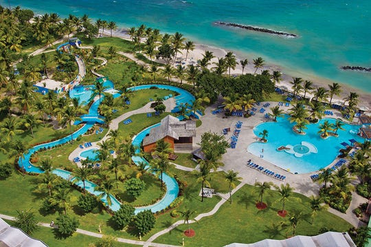 Located  on the south coast of Saint  Lucia, Coconut Bay Beach Resort is a family-friendly all-inclusive vacation playground.
