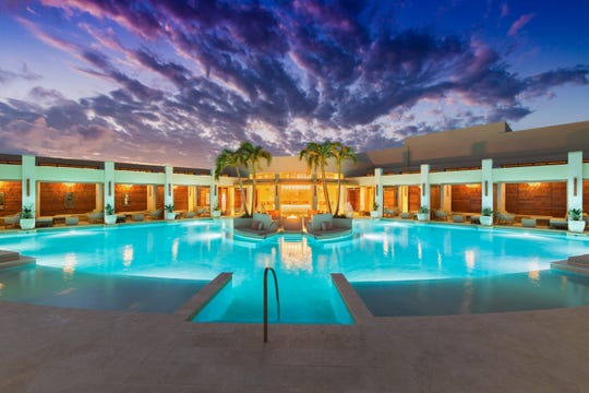 The Colonnade Pool is the main attraction at The Shore Club in Turks and Caicos Islands.