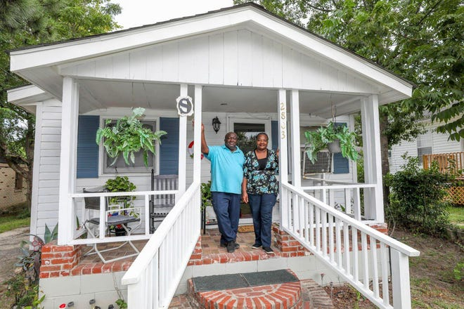 Habitat for Humanity of Central South Carolina is building new homes and helping homeowners renovate older homes in a Cayce neighborhood. Eddie Summers got help replacing the roof on his house, which his father built in 1960 from salvaged timber.