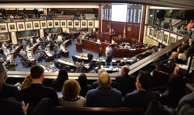 Lawmakers worked before a crowd in this 2016 photo of the Florida House of Representatives meeting.