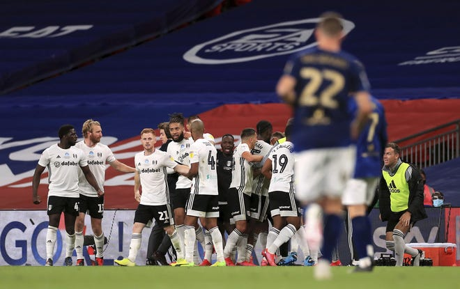 One year ago Fulham celebrated after Joe Bryan scored a goal in extra time against Brentford, earning promotion to England's Premier League for the team owned by Shad Khan.