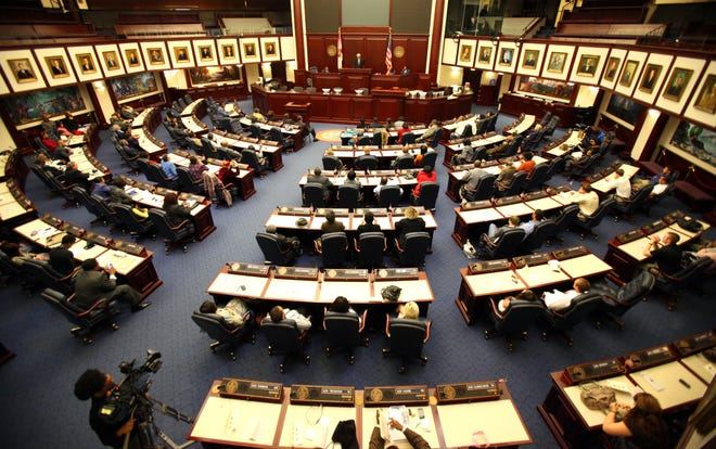 The chamber of the Florida House of Representatives was the site of a lecture in this 2011 photo.