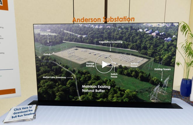 The virtual open house includes information from TVA's perspective on developments at Bull Run Fossil Plant, including this rendering of a new substation the utility plans to build in Oak Ridge.