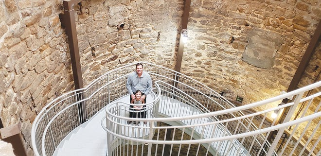 Former Kansas Secretary of State and candidate for U.S. Senate Kris Kobach visited the world's largest hand-dug well with his daughter Charlie on Tuesday. He is a candidate for U.S. Senate and was in town for a Kiowa County GOP candidate forum that evening. The primary election was Aug. 4.