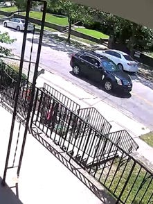 Cincinnati police are seeking to identify a black Cadillac SUV in connection with reports of paintballs being shot at random victims in several Cincinnati neighborhoods.