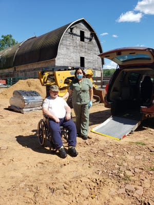 "Warner ""Butch"" Halverson and Jill Meyers, a nurse at St. Croix Hospice, recently visited Halverson's old farm."