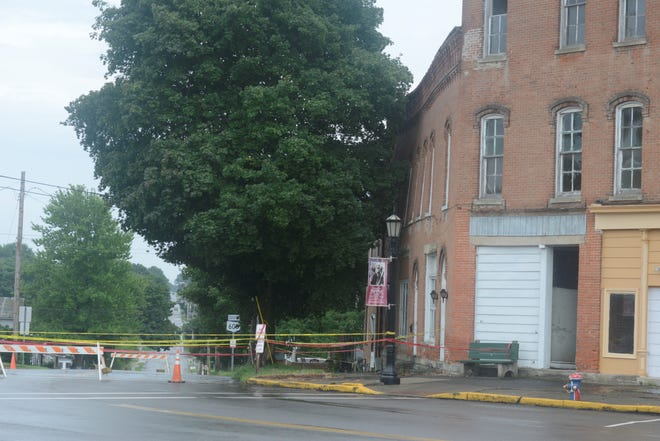 A back area of the former Plymouth Hotel collapsed July 30.